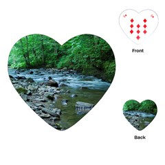 ROCKY STREAM Playing Cards (Heart)  by trendistuff