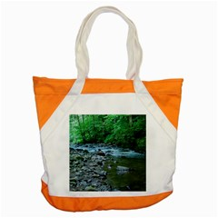 Rocky Stream Accent Tote Bag  by trendistuff