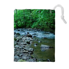 Rocky Stream Drawstring Pouches (extra Large)