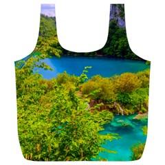 Plitvice, Croatia Full Print Recycle Bags (l)  by trendistuff