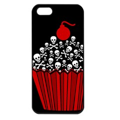 Skull Cupcake Apple Iphone 5 Seamless Case (black) by waywardmuse