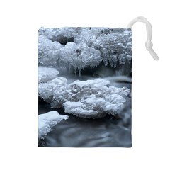 Ice And Water Drawstring Pouches (large)  by trendistuff