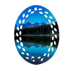 Herbert Lake Oval Filigree Ornament (2 Side)  by trendistuff