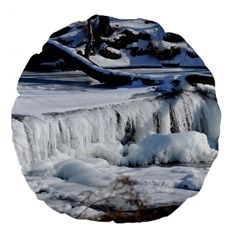 Frozen Creek Large 18  Premium Flano Round Cushions by trendistuff