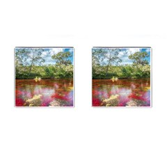Cano Cristales 3 Cufflinks (square) by trendistuff