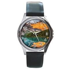 Banff National Park 4 Round Metal Watches by trendistuff