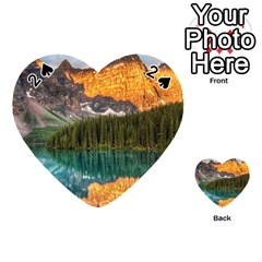 Banff National Park 4 Playing Cards 54 (heart)  by trendistuff