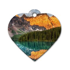 Banff National Park 4 Dog Tag Heart (two Sides) by trendistuff