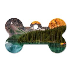 Banff National Park 4 Dog Tag Bone (two Sides) by trendistuff