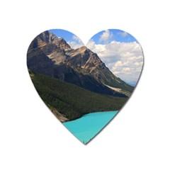 Banff National Park 3 Heart Magnet by trendistuff