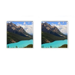 Banff National Park 3 Cufflinks (square) by trendistuff