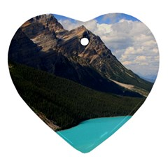 BANFF NATIONAL PARK 3 Heart Ornament (2 Sides) by trendistuff