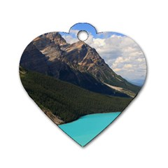 Banff National Park 3 Dog Tag Heart (one Side) by trendistuff
