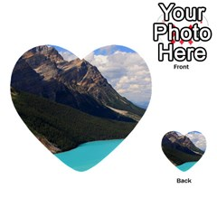 Banff National Park 3 Multi Purpose Cards (heart)  by trendistuff