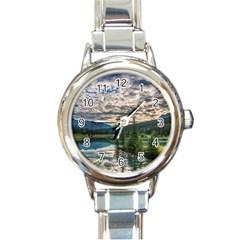 Banff National Park 2 Round Italian Charm Watches by trendistuff