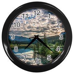 Banff National Park 2 Wall Clocks (black) by trendistuff