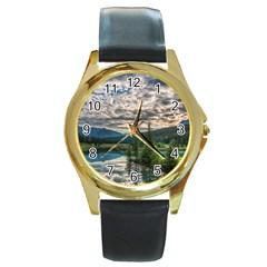 Banff National Park 2 Round Gold Metal Watches by trendistuff