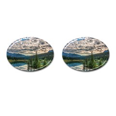 Banff National Park 2 Cufflinks (oval) by trendistuff