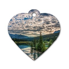 Banff National Park 2 Dog Tag Heart (one Side) by trendistuff