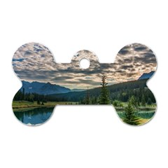 Banff National Park 2 Dog Tag Bone (two Sides) by trendistuff