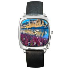 Banff National Park 1 Square Metal Watches by trendistuff