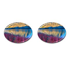 Banff National Park 1 Cufflinks (oval) by trendistuff