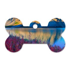 Banff National Park 1 Dog Tag Bone (two Sides) by trendistuff