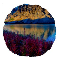 Banff National Park 1 Large 18  Premium Round Cushions by trendistuff
