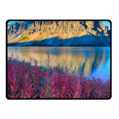BANFF NATIONAL PARK 1 Double Sided Fleece Blanket (Small)  by trendistuff