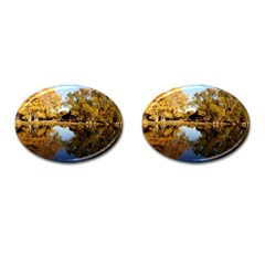 Autumn Lake Cufflinks (oval) by trendistuff
