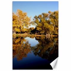 Autumn Lake Canvas 24  X 36  by trendistuff