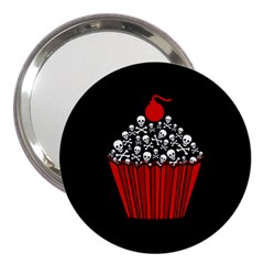 Skull Cupcake 3  Handbag Mirror by waywardmuse