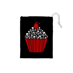Skull Cupcake Drawstring Pouch (small) by waywardmuse