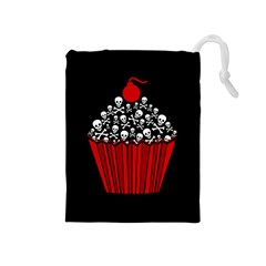 Skull Cupcake Drawstring Pouch (medium)