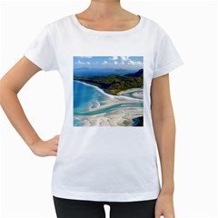 Whitehaven Beach 1 Women s Loose Fit T Shirt (white) by trendistuff