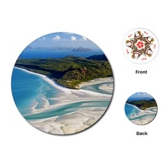Whitehaven Beach 1 Playing Cards (round)  by trendistuff