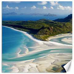 Whitehaven Beach 1 Canvas 12  X 12   by trendistuff