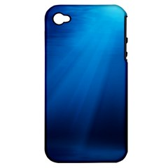 Underwater Sunlight Apple Iphone 4/4s Hardshell Case (pc+silicone) by trendistuff