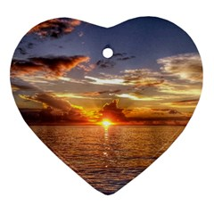 Tahitian Sunset Ornament (heart)  by trendistuff