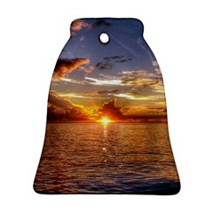 Tahitian Sunset Bell Ornament (2 Sides) by trendistuff