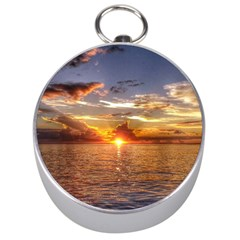 Tahitian Sunset Silver Compasses by trendistuff