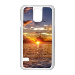 Tahitian Sunset Samsung Galaxy S5 Case (white) by trendistuff