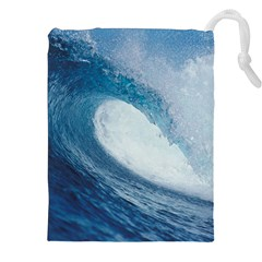 Ocean Wave 2 Drawstring Pouches (xxl) by trendistuff