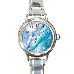 Ocean Wave 1 Round Italian Charm Watches