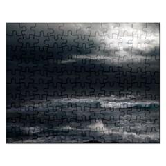 OCEAN STORM Rectangular Jigsaw Puzzl by trendistuff