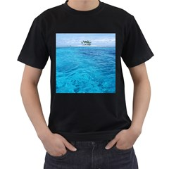Ocean Island Men s T Shirt (black) (two Sided) by trendistuff