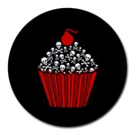 Skull Cupcake Round Mousepad Front