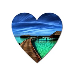 Maldives 2 Heart Magnet by trendistuff