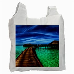 Maldives 2 Recycle Bag (one Side) by trendistuff