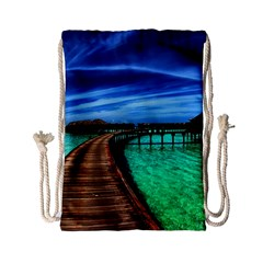Maldives 2 Drawstring Bag (small) by trendistuff